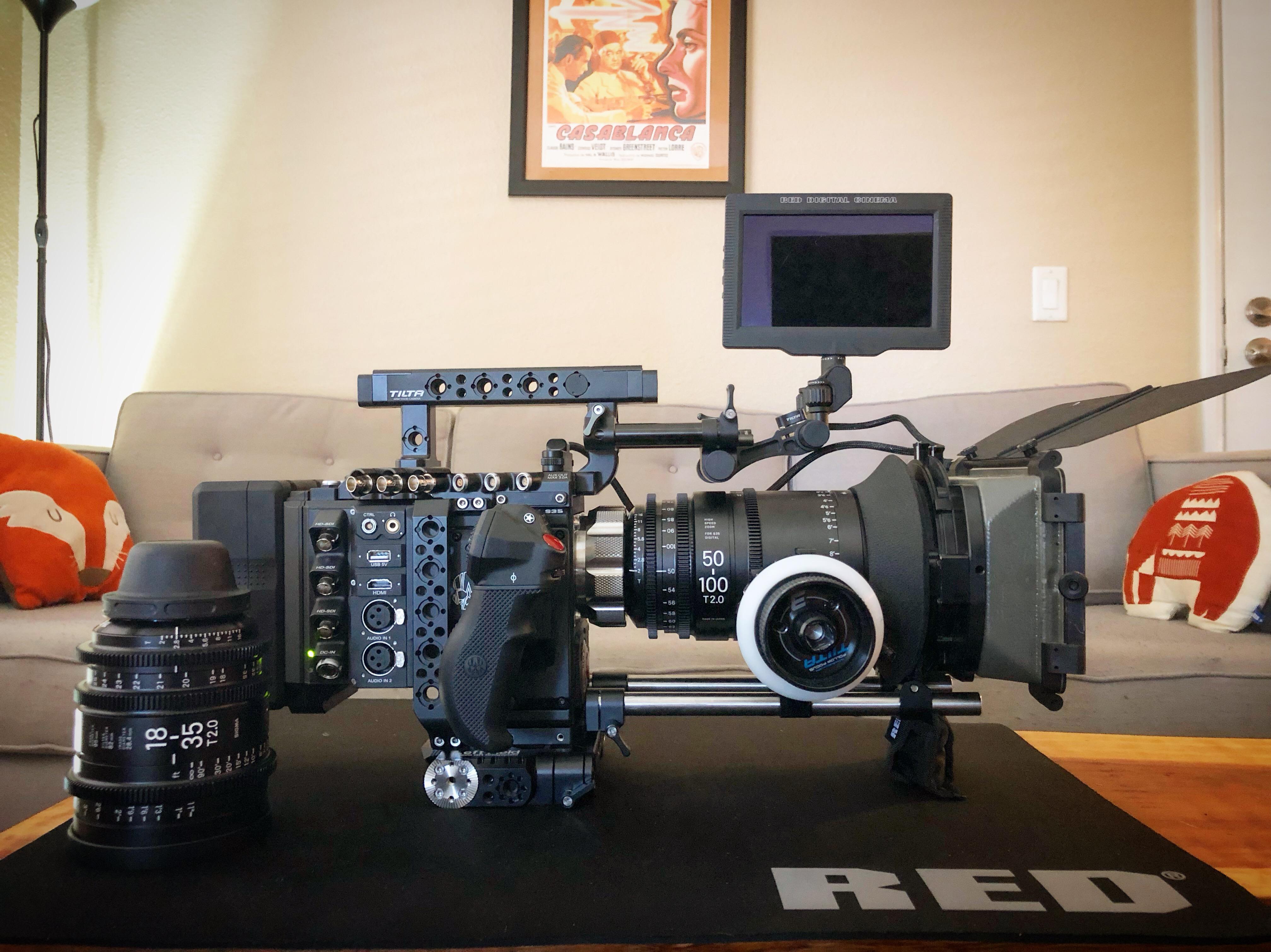 Red Gemini Video Camera